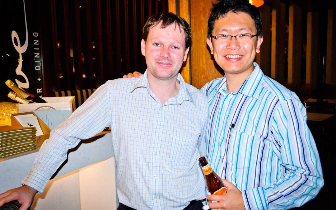 Kristian from Winn Stone (Partner) and I