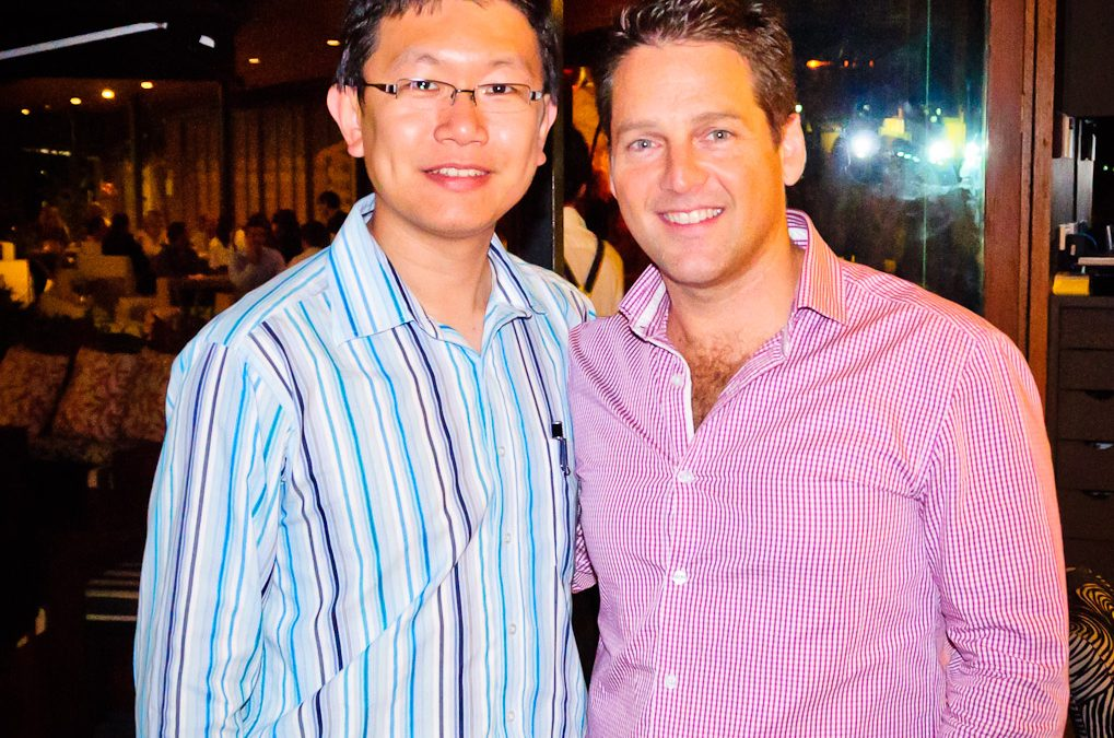 Jerry and Chris Ridd (Managing Director of Xero Austrtalia)