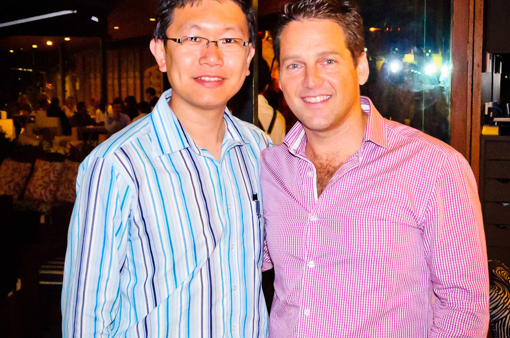 Jerry and Chris Ridd (Managing Director of Xero Austrtalia)